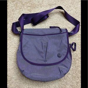 "Pristine Lululemon Purple Crossbody Purse 11"" x 10"